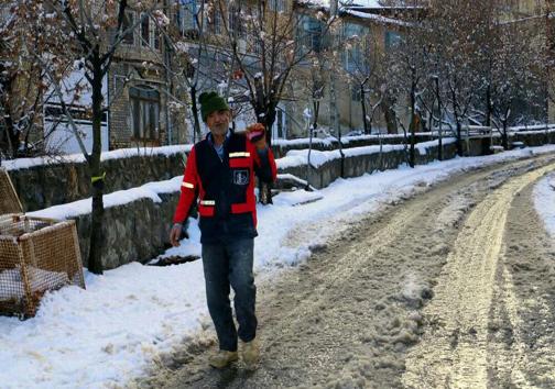 کاشانِ برفی در واپسین روزهای دیماه