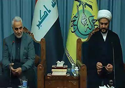 صحبتهای سردار سلیمانی به زبان عربی درباره دفاع از ملت عراق + فیلم