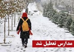 بارش برف و تعطیلی برخی از مدارس استان زنجان