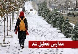تمامی مدارس تهران تعطیل شد