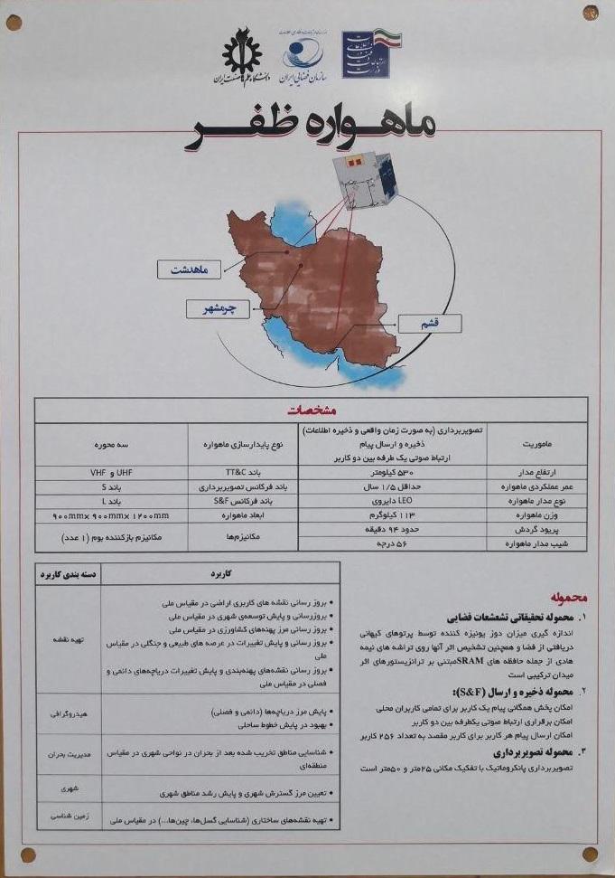 ماهواره ظفر برای پرتاب تحویل وزارت ارتباطات شد + ویژگیهای جدیدترین ماهواره ایرانی