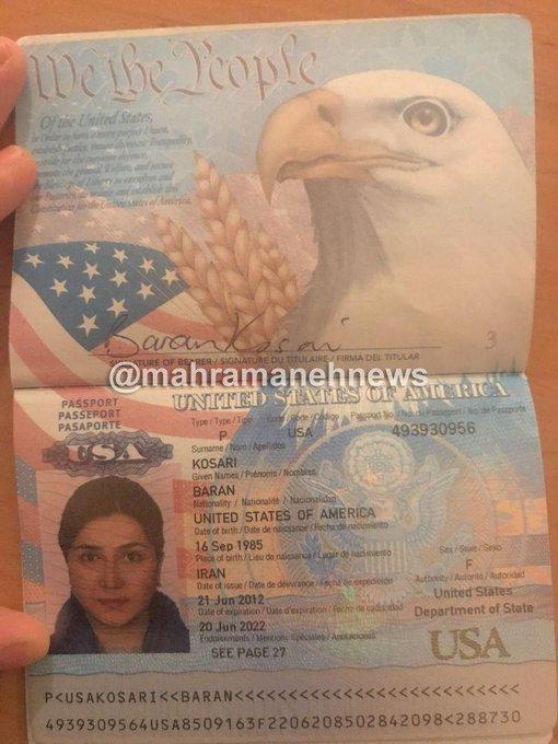 پاسپورت آمریکایی باران کوثری جعلی است؟