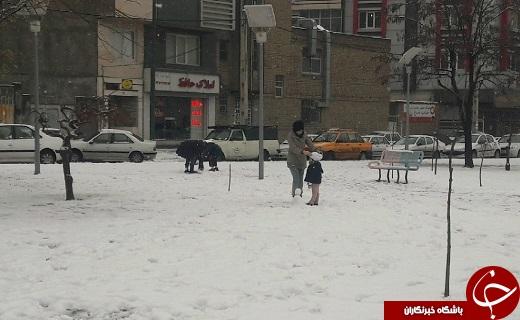 شادیهای کودکانه در یک روز برفی
