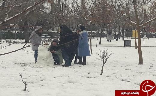 شادیهای کودکانه در یک روز برفی + تصاویر