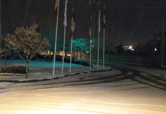 بارش برف در خوشاب+ تصاویر