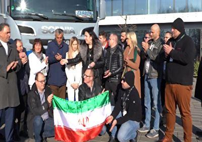 عاقبت به خیر شدن راننده ایرانی گرفتار در لهستان + فیلم