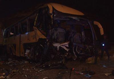 واژگونی اتوبوس در آزادراه سلفچگان به ساوه به ۳ کشته + فیلم