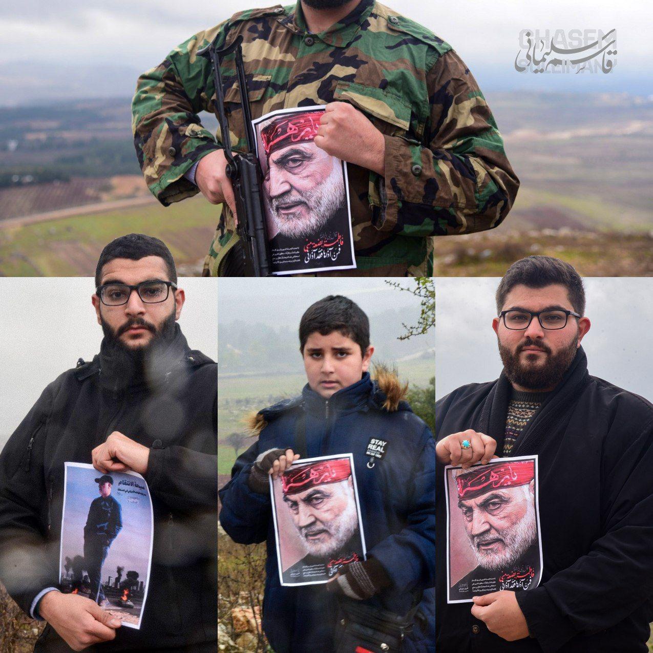 تصاویری از حاج قاسم سلیمانی در مرز فلسطین اشغالی