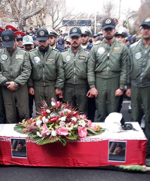 پیکر شهید رحمانی خلبان میگ ۲۹ ارتش تشییع شد