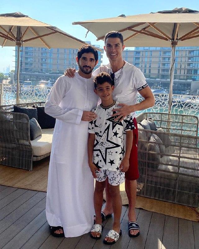 عکس یادگاری پسر حاکم دبی با کریستین رونالدو