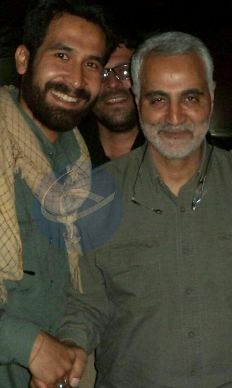تصویر دیده نشده از سردار سلیمانی و شهید جعفر حسینی