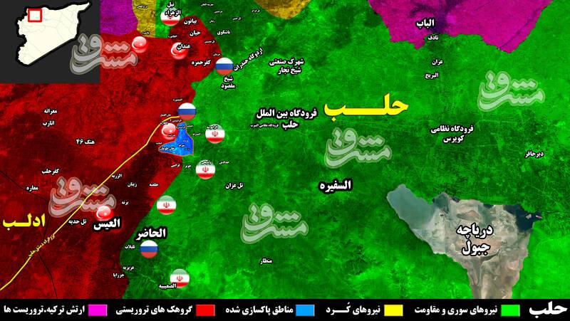 پاکسازی خرمشهر سوریه از اشغال تروریستها/ رزمندگان جبهه مقاومت انتقام مدافعان حرم در خانطومان را گرفتند + نقشه