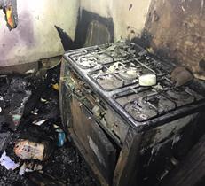 آتشسوزی یک منزل مسکونی در روستای اسکلو شهرستان کلیبر