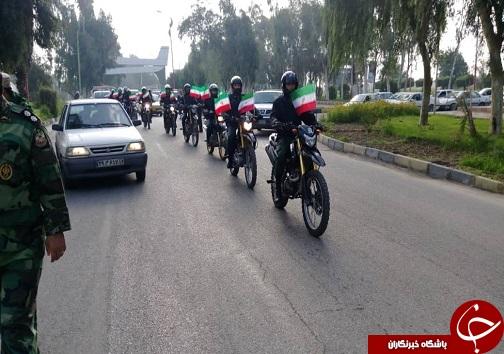 برگزاری رژه موتور سواران در اهواز