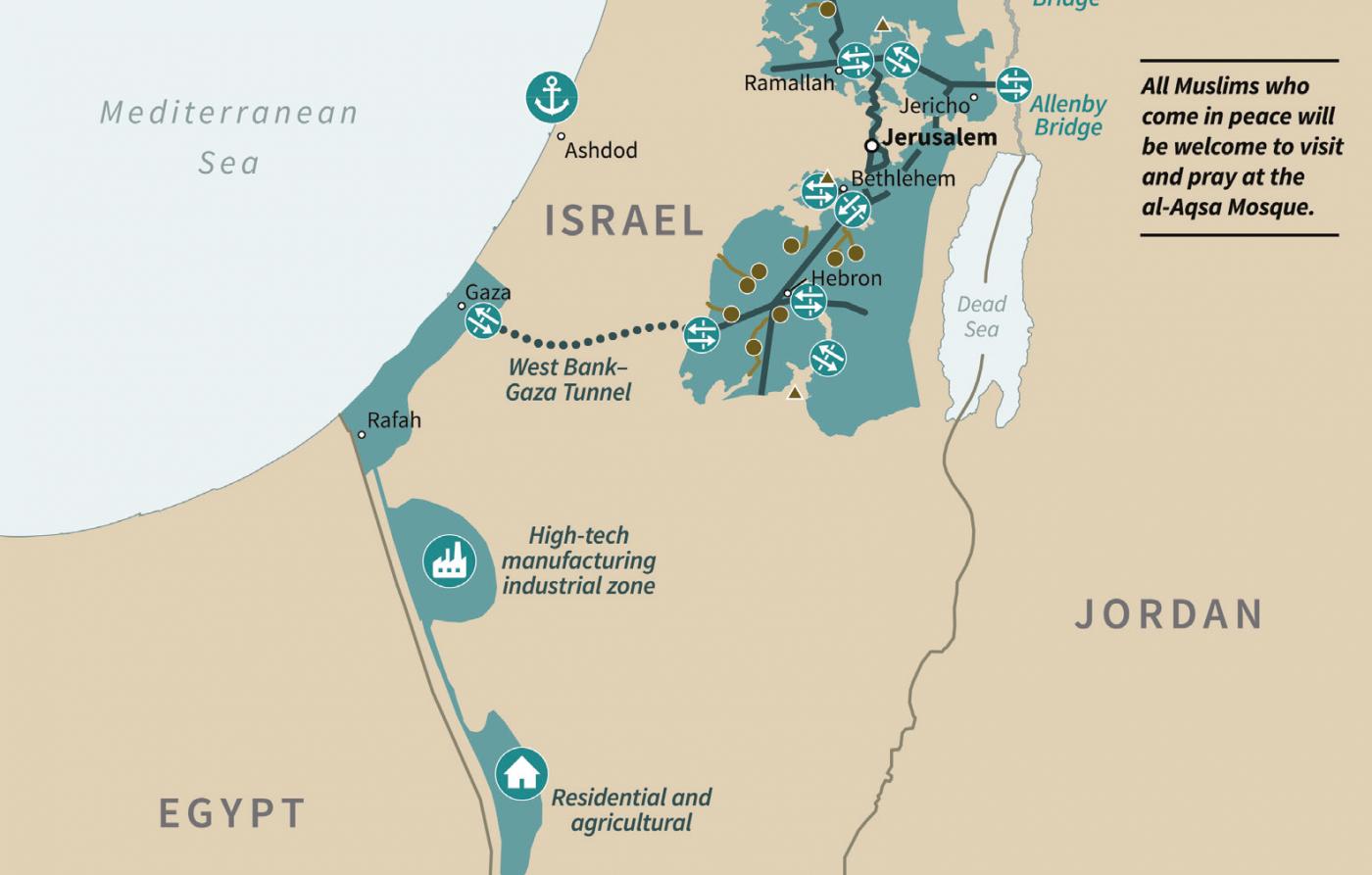 جغرافیای فلسطین جدید چگونه خواهد بود؟