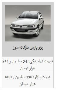 قیمت محصولات ایران خودرو در ۱۶ بهمن