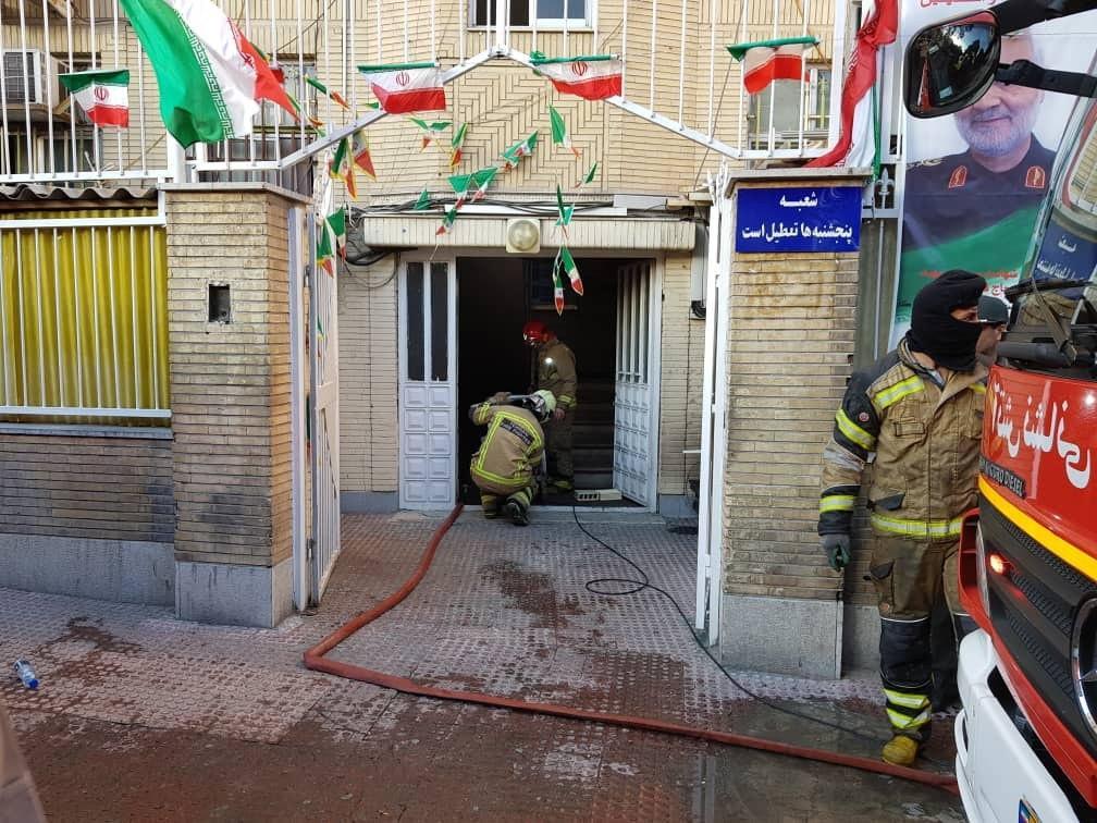 آتشسوزی ساختمان اداری ۴ طبقه در نازی آباد/ ۳۰ نفر نجات یافتند
