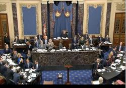 رد اصلاحیههای دموکراتها در روز نخست محاکمه ترامپ/ سنا مقررات استیضاح را تصویب کرد