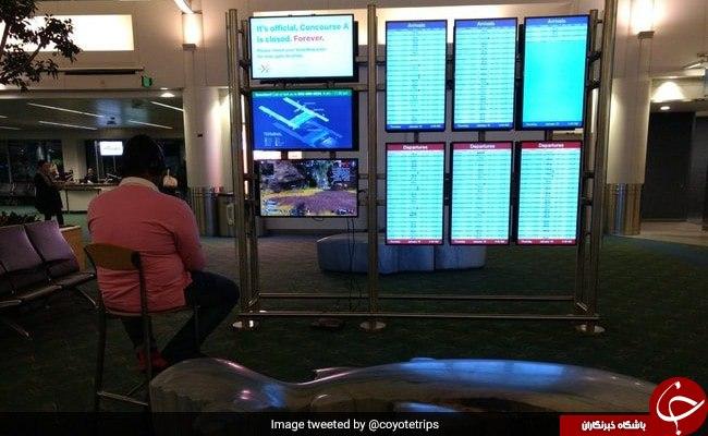 اقدام عجیب گیمر در سالن فرودگاه!//