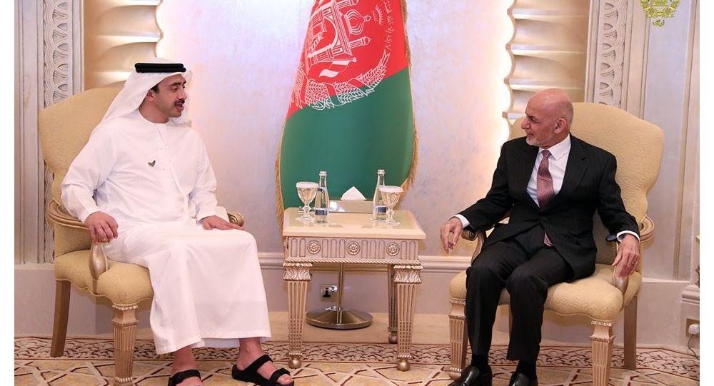 دیدار و گفتگوی اشرف غنی با وزیر امور خارجه امارات