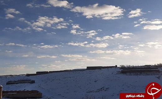 پیرهن سفید زمستان بر تن روستای خاوه+عکس