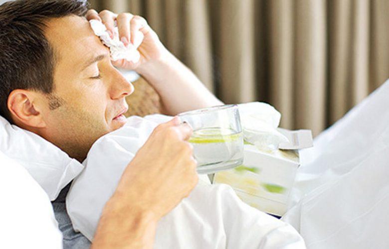 فرد مبتلا به سرماخوردگی