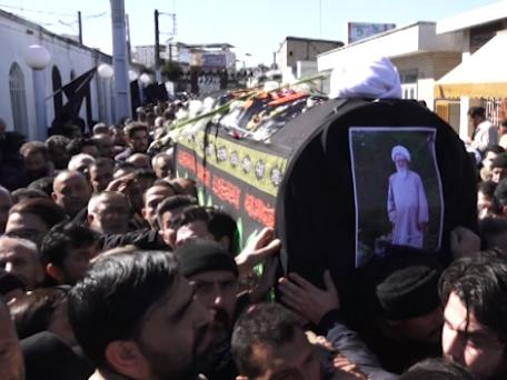مراسم تشییع پیکر آیت الله طبرسی در ساری + فیلم