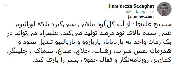 راه اندازی کمپین ترویج خشونت علیه ایرانی ها  توسط مزدور سازمان سیا / معصی شرکت کنندگان در انتخابات را  را تهدید کرد!
