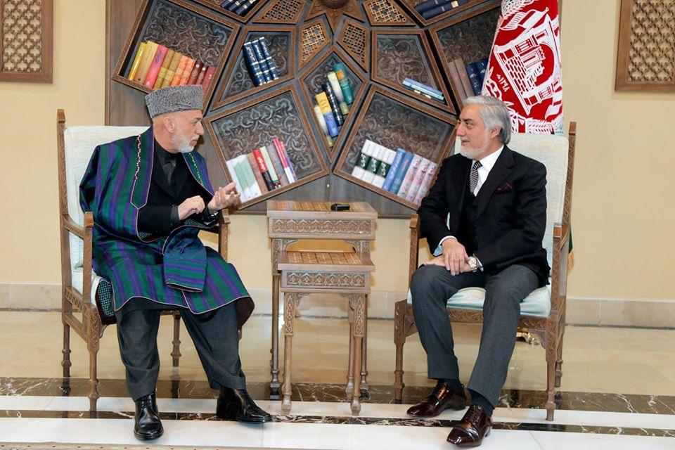 تاکید عبدالله و کرزی بر تشکیل یک هیات فراگیر در مذاکره با طالبان