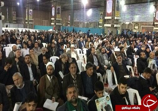مراسم چهلمین روز شهادت سردار سلیمانی در اهواز برگزار شد