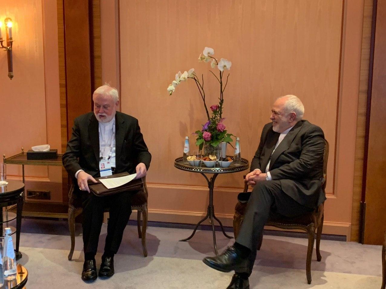 دیدار و گفتگوی وزرای امور خارجه جمهوری اسلامی ایران و واتیکان