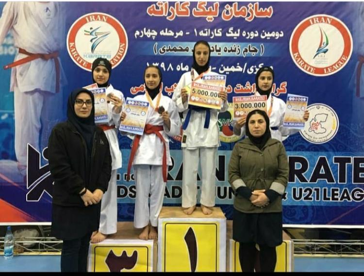 کسب چهار نشان رنگارنگ دختران فارس در لیگ کاراته وان