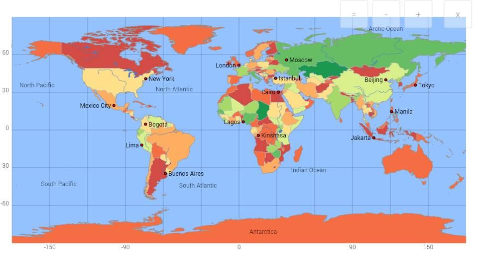دانلود World atlas & map MxGeo Pro 6.2.93 نرم افزار اطلس و نقشه کامل جهان اندروید