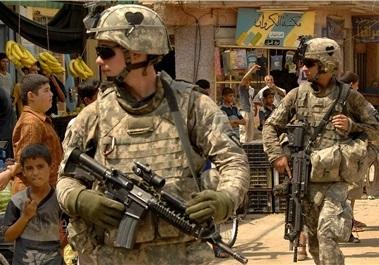 نظامیان ارتش تروریست آمریکا در افغانستان