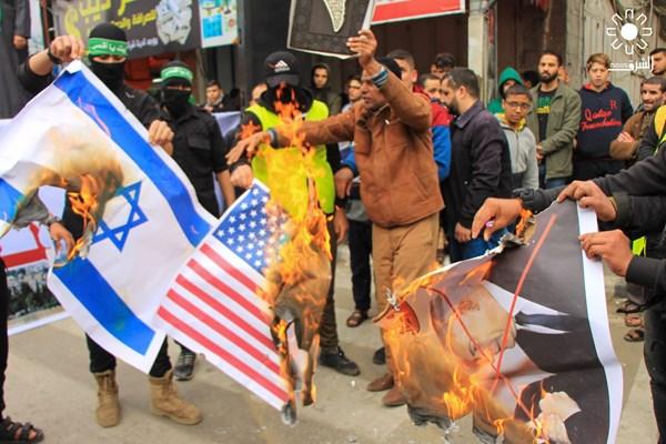 تظاهرات علیه معامله قرن در نوار غزه فلسطین 07