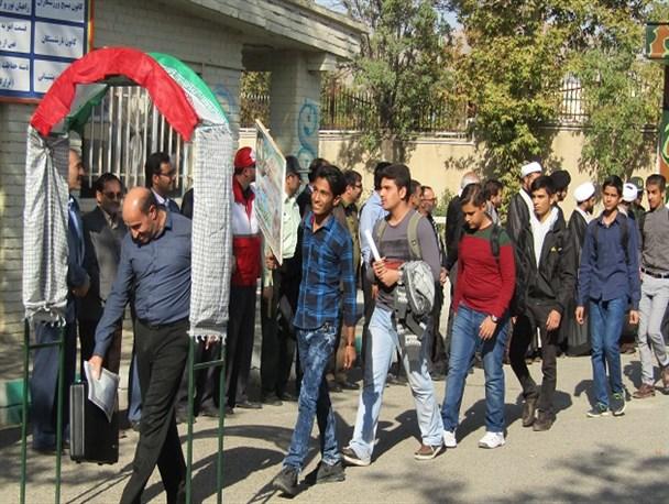 اعزام ۱۵۰ دانش آموز پسر به مناطق عملیاتی قلاویزان