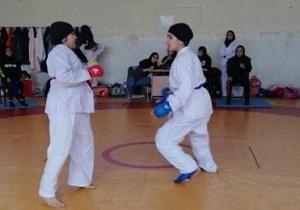مسابقات کاراته بانوان شهرستان سامان برگزار شد