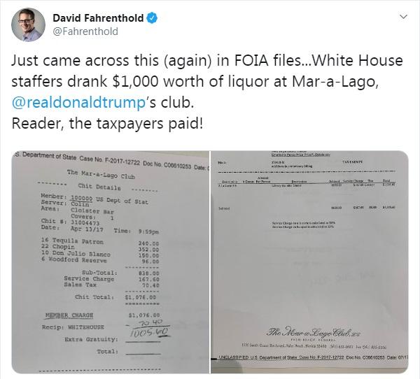 پرداخت هزینههای میهمانیهای مجلل ترامپ در مارالاگو از جیب مالیاتدهندگان آمریکایی