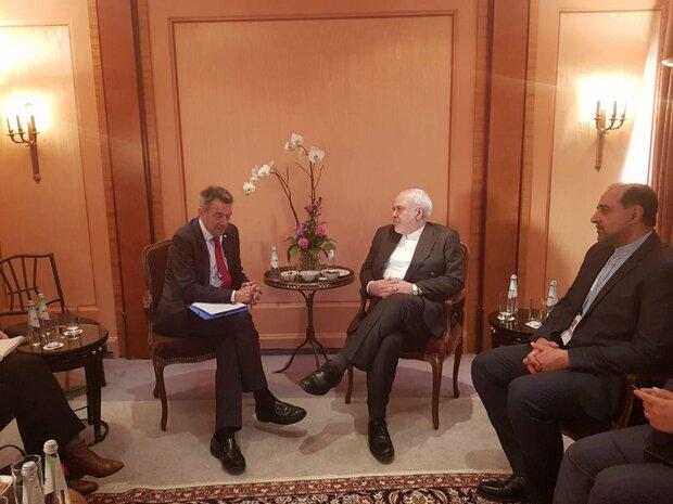 ظریف با رئیس کمیته بین المللی صلیب سرخ دیدار کرد