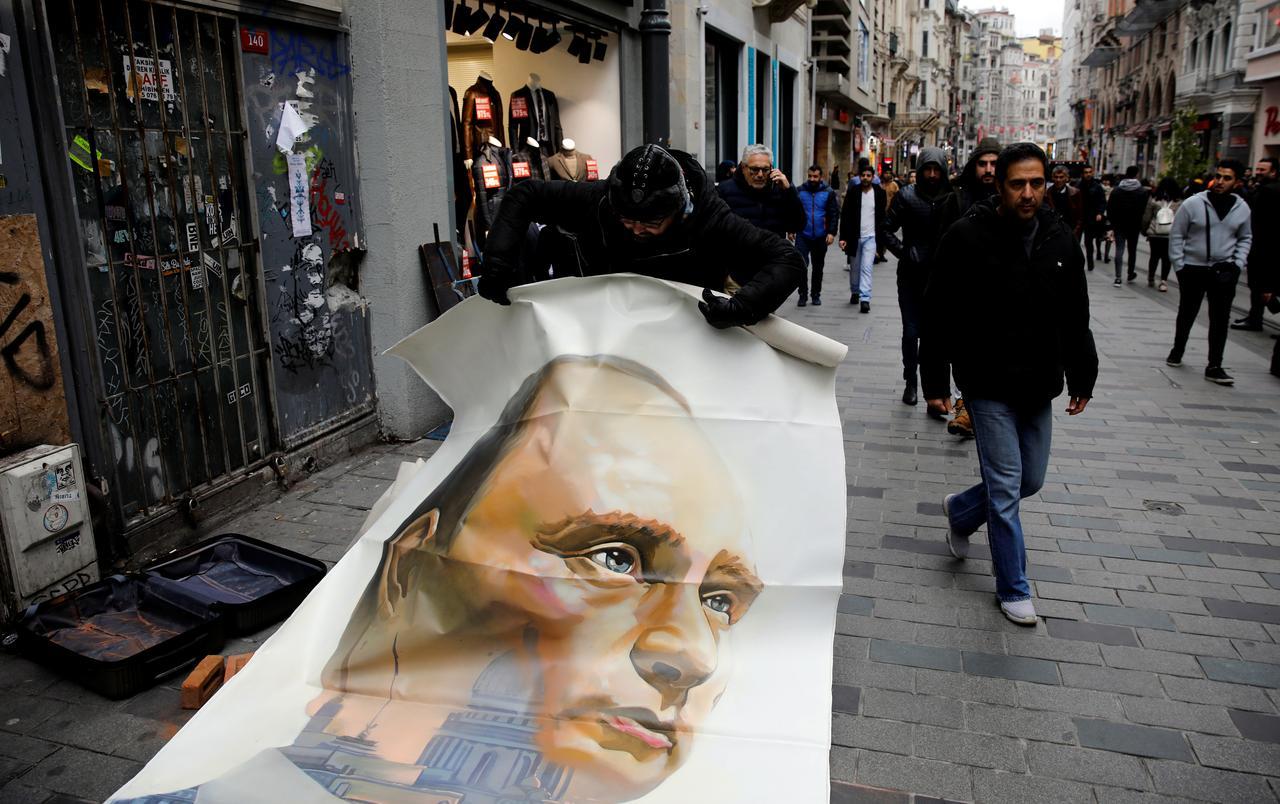 نقاشهای ابرقهرمانی نقاش روس از ولادیمیر پوتین