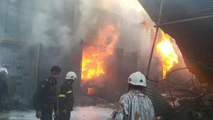 یک کشته در آتش سوزی جاجرم