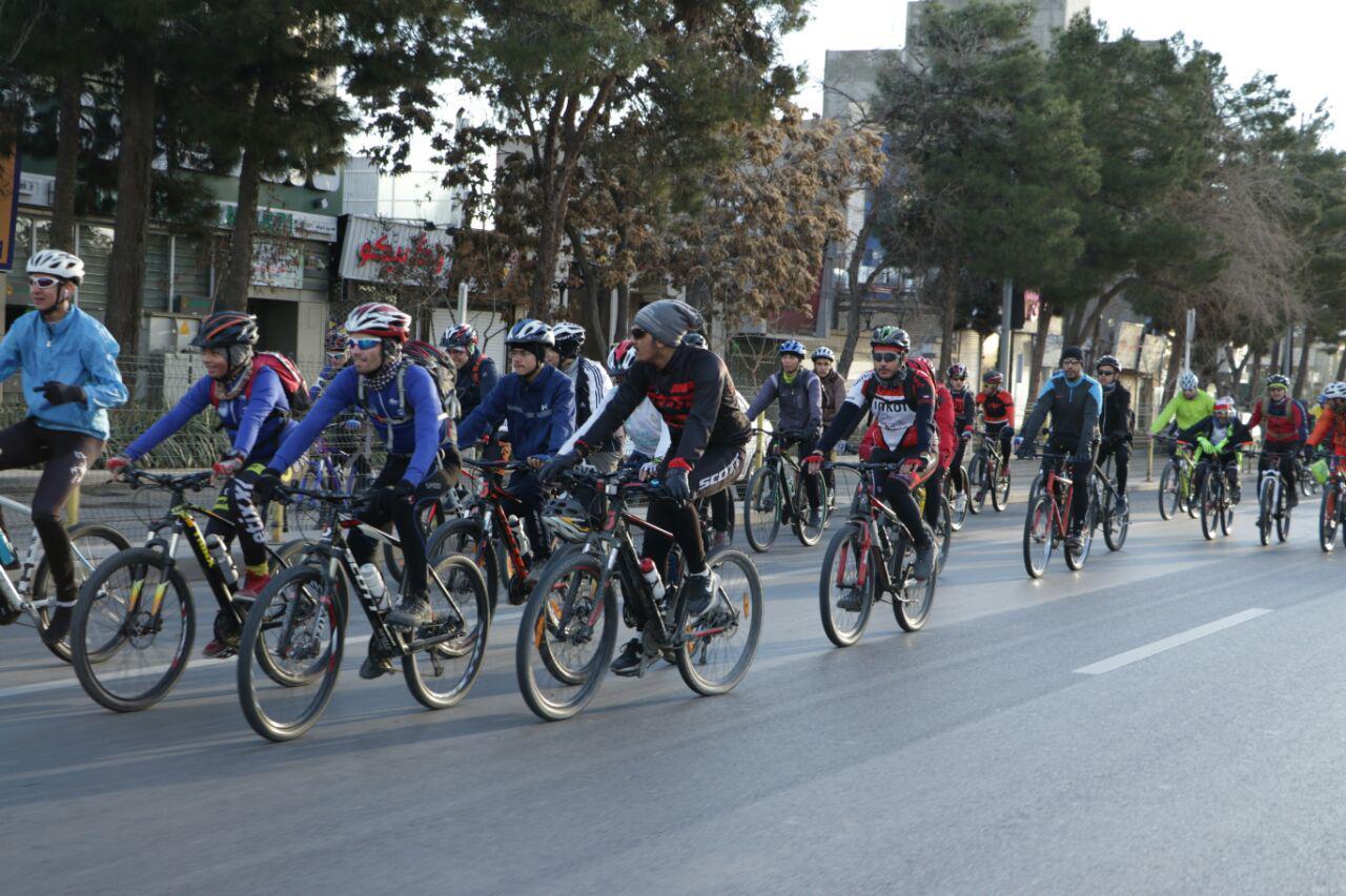 برگزاری همایش دوچرخه سواری در چوار