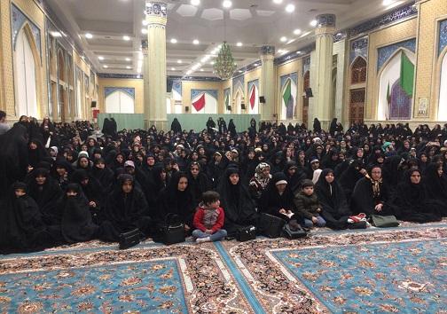برگزاری مراسم جشن میلاد کوثر در قزوین