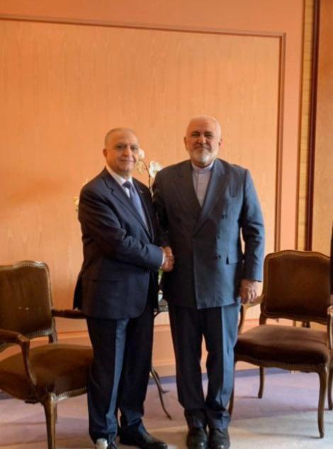 دیدار ظریف با همتای عراقی خود