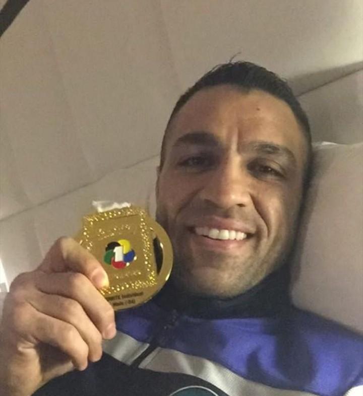 استراحت لذت بخش کاپیتان تیم ملی کاراته با مدال طلا+عکس