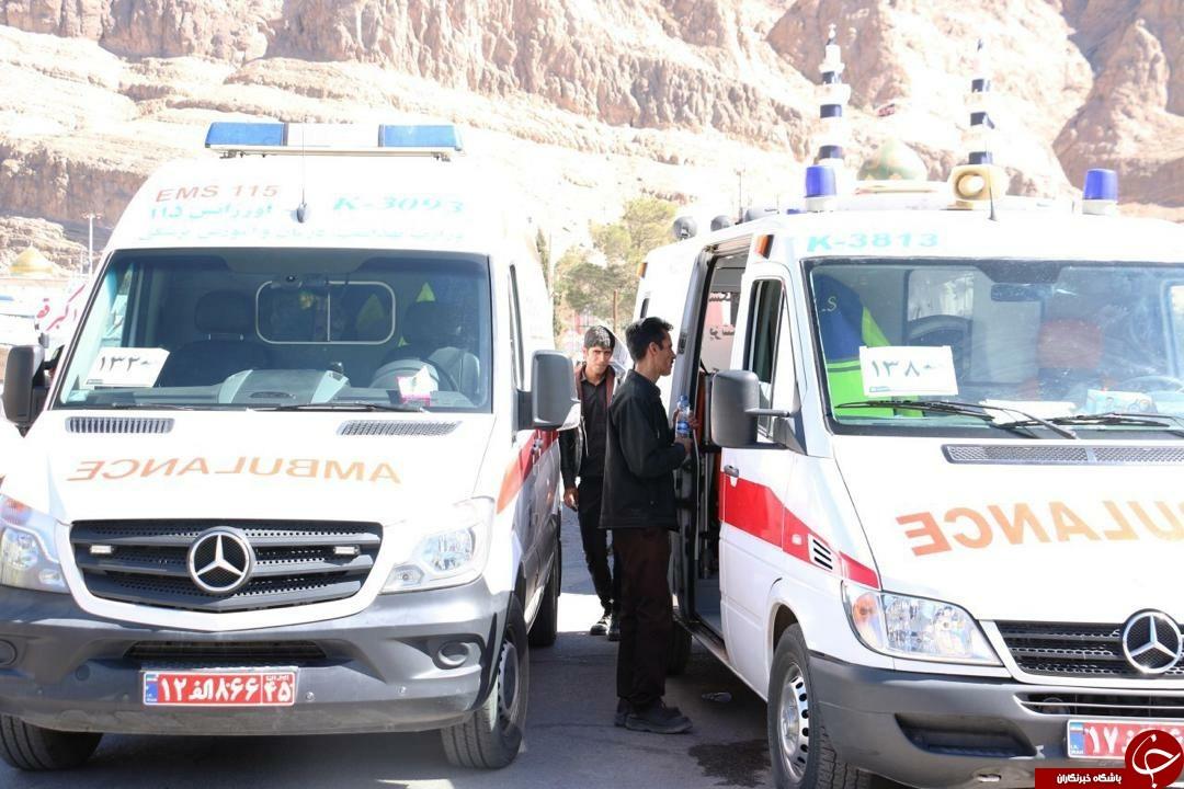 بهره مندی ۶۸ زائر اربعین سردار دلها از خدمات اورژانس