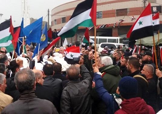 تظاهرات ضد آمریکایی در سوریه