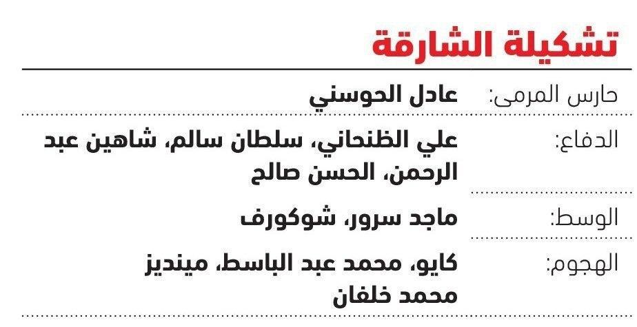 ترکیب احتمالی تیمهای الشارجه و پرسپولیس از دید رسانه اماراتی
