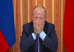 وقتی پوتین نمیتواند جلوی خندهاش را در یک جلسه رسمی بگیرد + فیلم