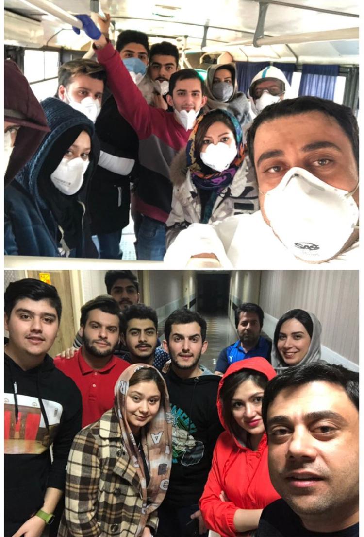 عکس دانشجویان بازگشته از ووهان ۱۴ روز پس از قرنطینه